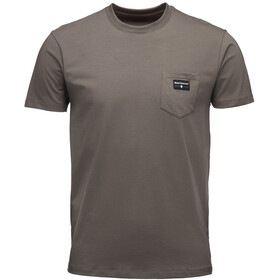 Black Diamond Pocket Label Tee Herre walnut
